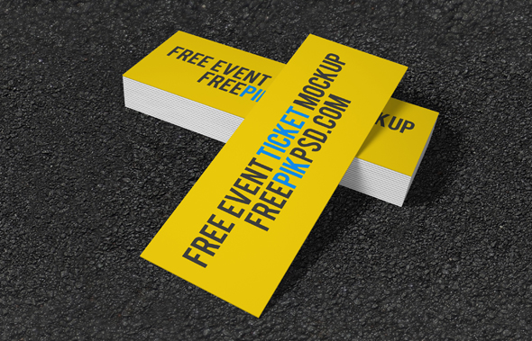 Free Concert Ticket Mockup PSD