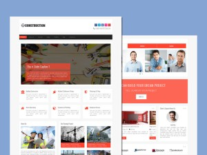 Free Construction Bootstrap Template