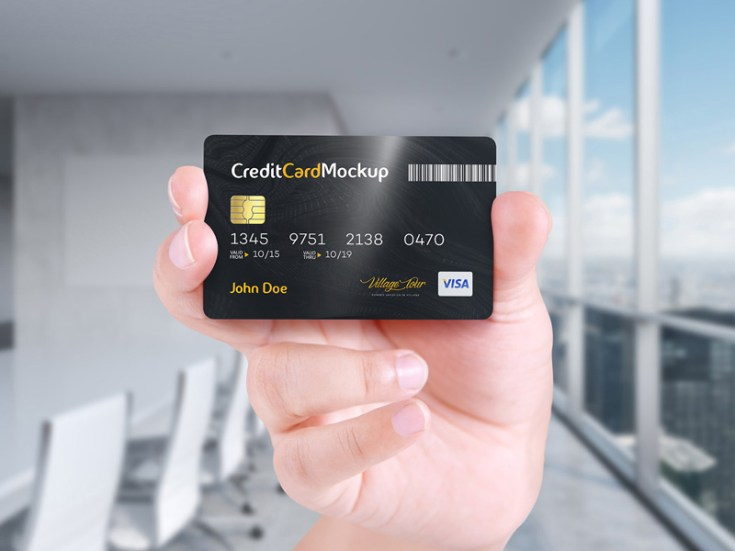 Free Credit Card Mockup With Editable Psds Free Download