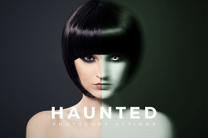 Free Haunted Photoshop Action