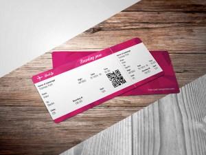Free Realistic Ticket Mockup PSD