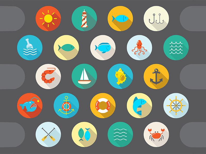 Free Sea Icon Set