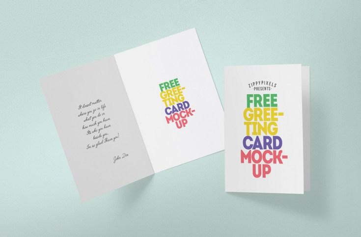 Greeting Card Mockup PSD
