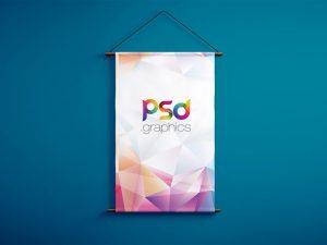 Free Hanging Banner Mockup PSD