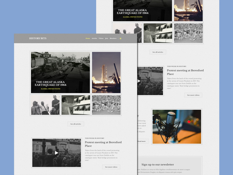 History PSD Website Template