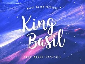 King Basil : Free Brush Typeface