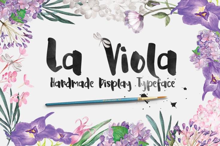 La Viola - Free Script Display Typeface