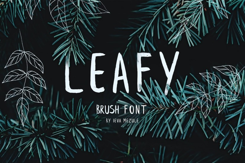 Leafy : Free Handwritten Brush Font