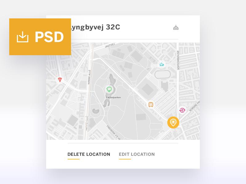 Location Tracker WIdget PSD
