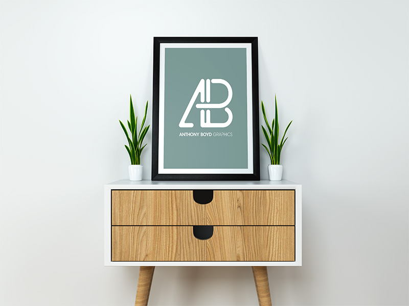 Free Clean and Modern Poster Mockup