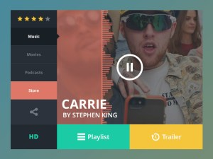 Music Widget UI PSD