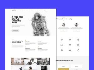 Namaro : Clean Landing Page HTML Template