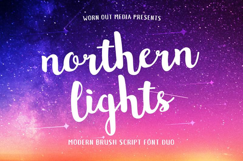 Northern Lights Free Font