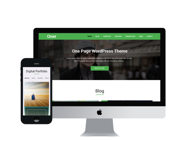 Oner – Corporate One Page WordPress Theme