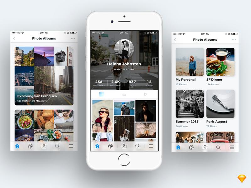 Photo Sharing App UI