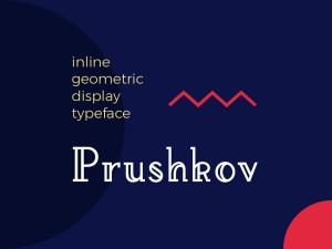 Prushkov Free Inline Geometric Display Font