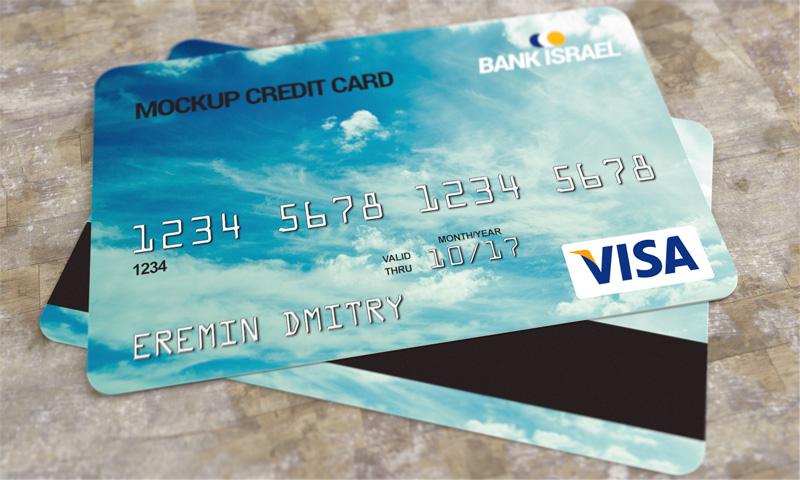 Realistic Credit Card Mockup