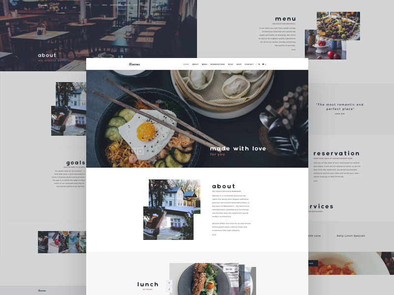 Renome – Restaurant Website Template