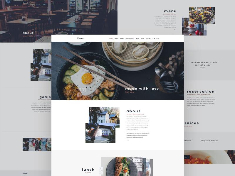 Renome – Restaurant Website Template