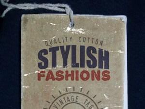 Retro Clothing Label Mockup PSD