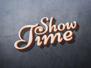 Showtime 3D Text Effect PSD