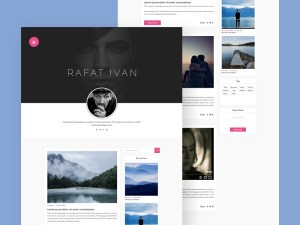 Simple Personal Blog Website Template