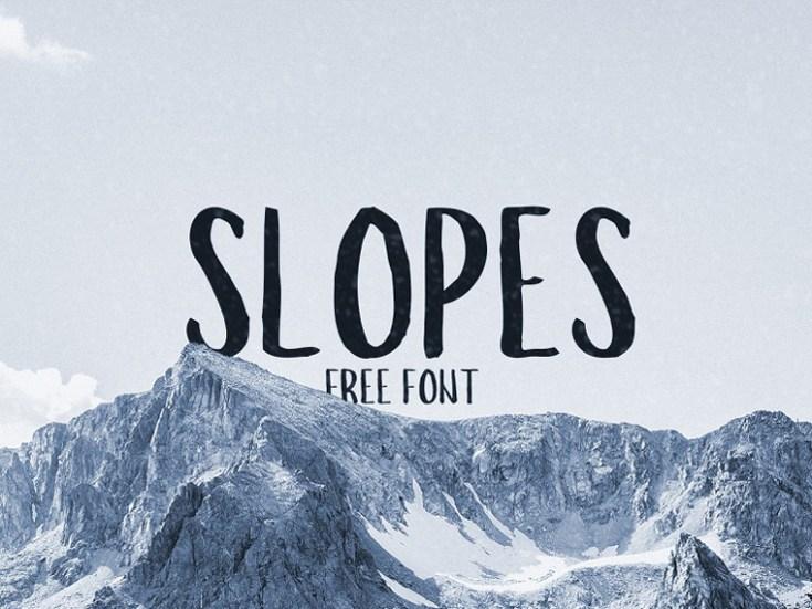 Slopes Free Font