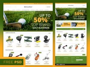 Sport Ecommerce Web template