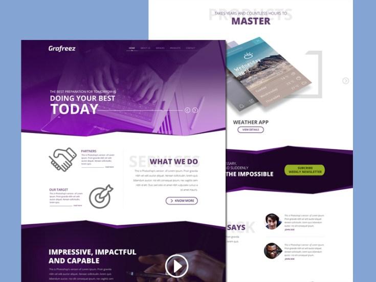 Startup PSD Web Template
