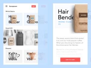 Ecommerce Stumptown App UI Design