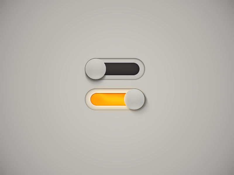 Switches ON / Off UI PSD