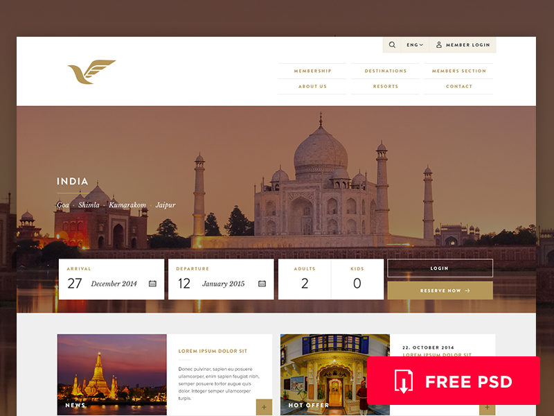 Travel Booking Website Template