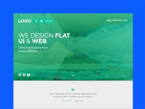 Mulatu : Flat Website Template