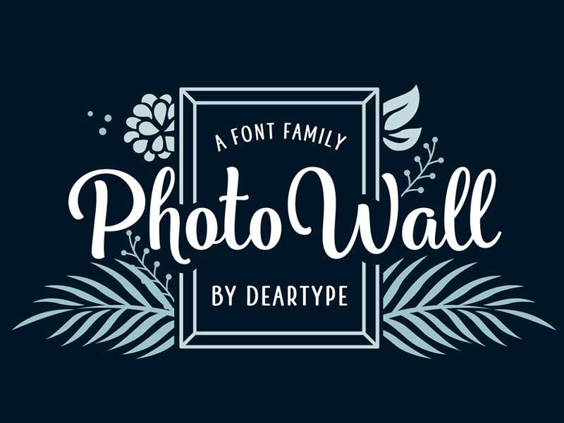 PhotoWall – Free Handmade Typeface