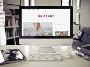 Brittany Light - Clean Blogging Wordpress Theme