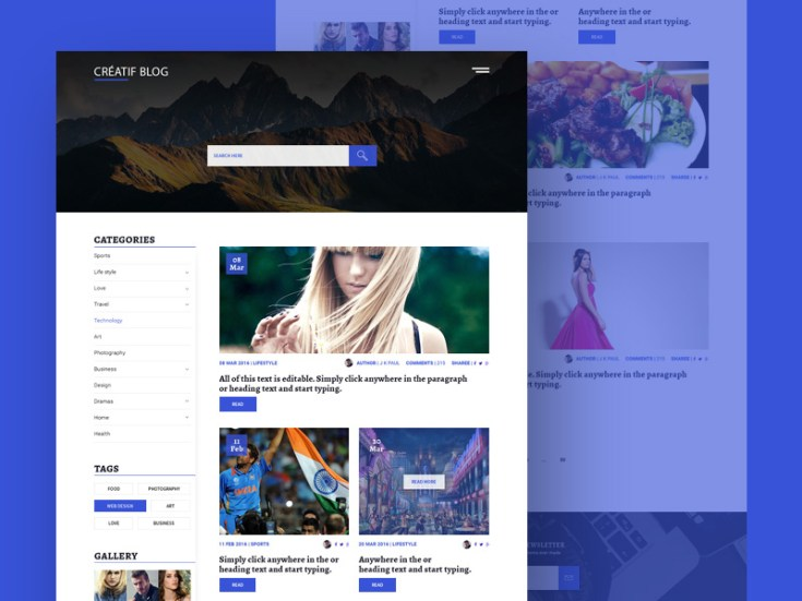 Clean Blogging Website Template