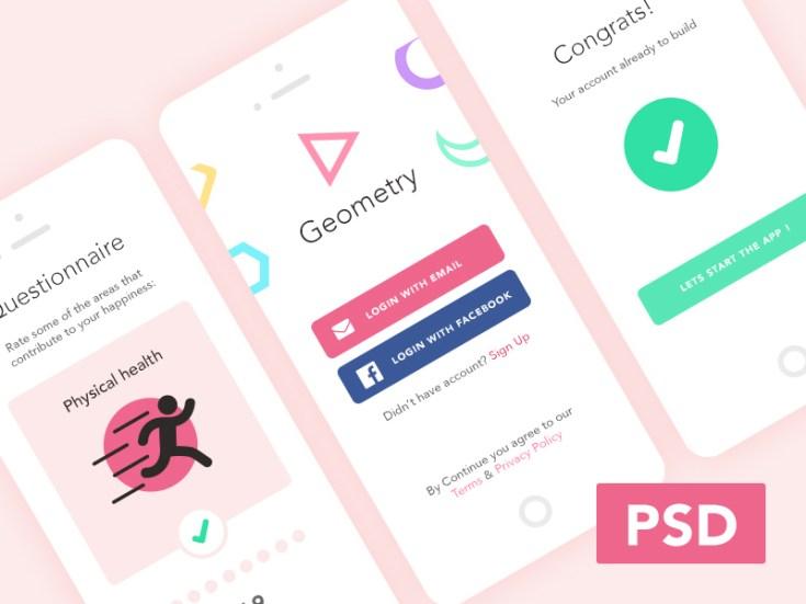 Free Mobile Login UI PSD