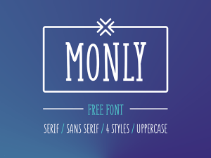 Monly Free Typeface
