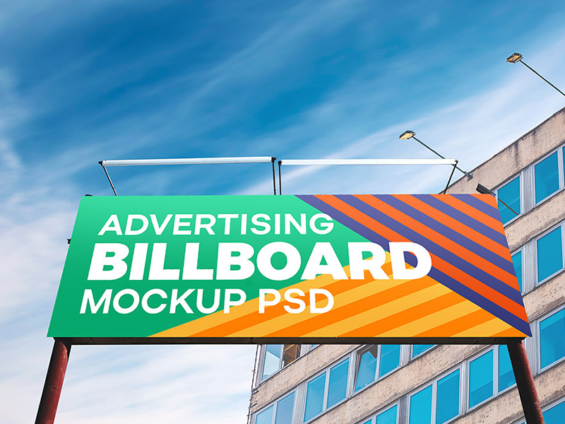 Outdoor Advertising Billboard Hoarding Mockup