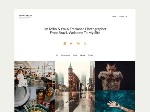 PhotoPress - Photography Wordpress Theme