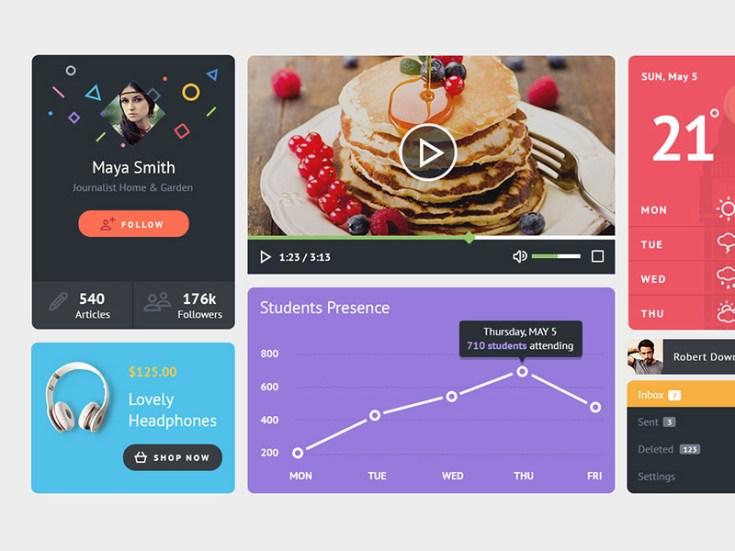 Playful UI Kit PSD