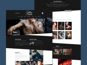 Tattoo Studio Website Template