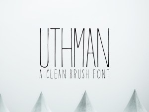 Uthman - Free Clean Brush Font