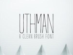 Uthman - Free Clean Brush Font