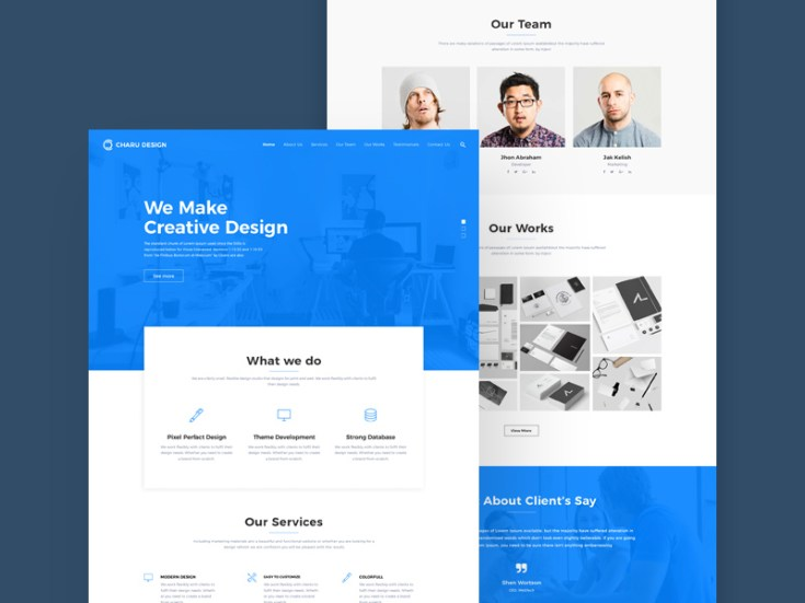 free digital agency website template