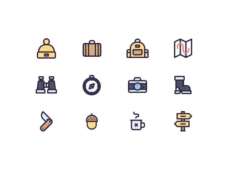 12 Free Travel Icons