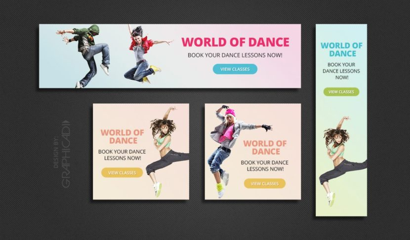 4 Free Colorful Web Banner Templates