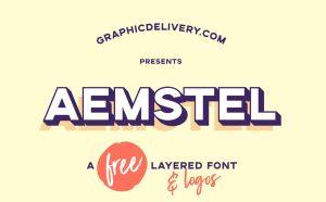 Aemstel - Free Layered Typeface