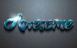 Awesome Text Effect PSD