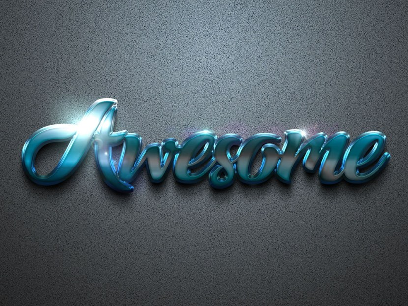 Free Awesome Text Effect PSD